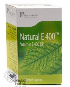 JP Natural Vitamin E 400 IU 30 Cap