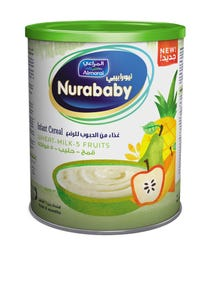 Nurababy Baby Cereal Wheat Milk & Fruits 400 gm