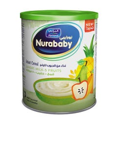 Nurababy Baby Cereal Wheat Milk & Fruits 400 gm