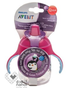 Avent Sip No Drip Cup - Pink 260 ml