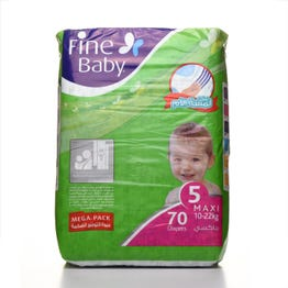 Fine Baby Size (5) Mega Pack-70 Diapers
