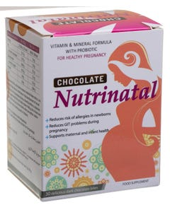 Nutrinatal Chocolate For Healthy Pregnancy 30 bits