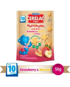 Cerelac NutriPuffs Strawberry & Banana 50 gm