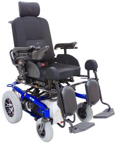 سي تي ام كرسي كهربائي تحكم ظهر و مسند قدم ازرق HS-7200B-BU1