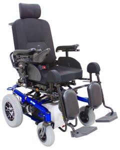 CTM Bed Type & Elevating Power Chair Blue HS-7200B-BU1
