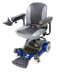 سي تي ام كرسي كهربائي دفع خلفي عجل صغير ازرق HS-1500-BU1