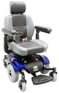 سي تي ام كرسي كهربائي محكم عجل متوسط ازرق HS-2850-BU1