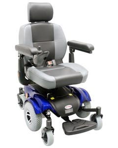 CTM New Compact Mid-Wheel Drive Power Chairblue HS-2850-BU1