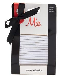 Mia Metal Free Round Elastics White-00731
