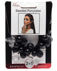 Mia Beaded Ponytailer