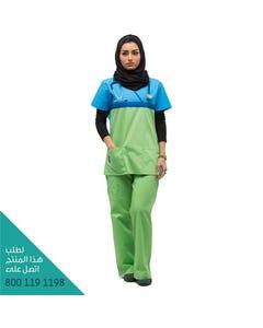 Royal Women Scrub Set Green Blue 702 Xs