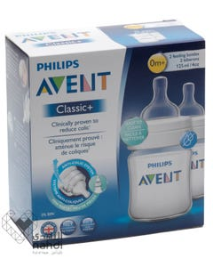 Avent Classic Plus Feeding Bottle 125 ml 2 pcs