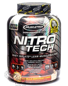 Muscletech Nitro Tech Vanilla Birthday Cake 1.8 kg Powder