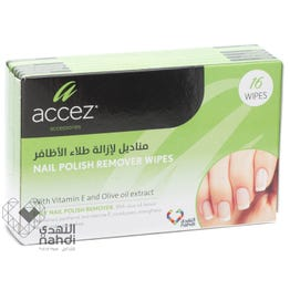 Accez Nail Polish Remover 16 Wipes