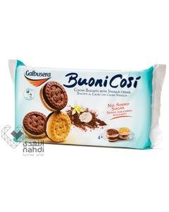 Galbusera Cocoa Biscuits & Vanilla Cream No Added Sugar 160 gm