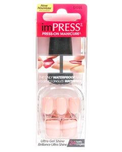 Kiss Impress Waterproof Nails Light Pink Color 24 pcs