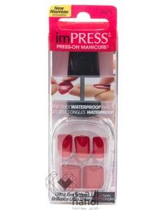 Kiss Impress Waterproof Nails Light Red 24 pcs