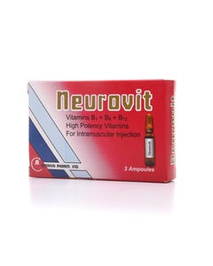 Neurovit High Potency Vitamins 3 Ampoules