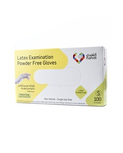 Nahdi Latex Gloves Powdered Free Small 100 pcs