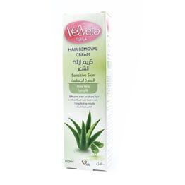 Velveta Hair Removal Cream Sensitive Skin Aloe Vera 100 ml