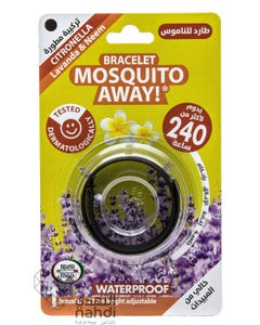 Brand Italia Bracelet Mosquito Away - Black - Lasts 240 hours