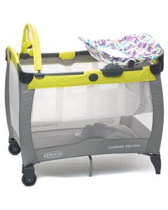 Graco Contour Electra Travel Cot - Blackberry Spring