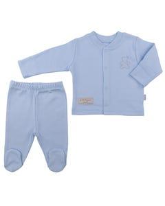 Kitikate Organic Pyjamas Set 2 pcs-Blue-0-1 Month