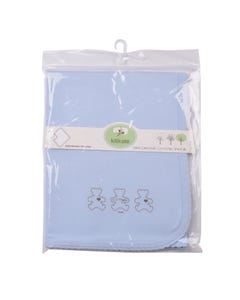 Kitikate Organic Baby Blanket-One Ply 1pc- Blue