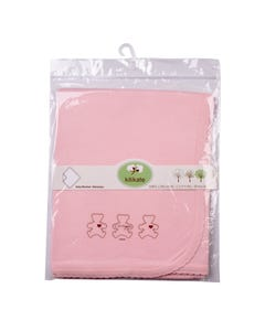 Kitikate Organic Baby Blanket-One Ply 1pc- Pink