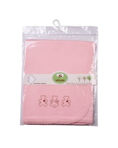 Kitikate Organic Baby Blanket-Two Plies 1pc- Pink