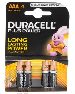 Duracell Plus Power AAA 4 Batteries