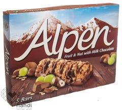 Alpen Fruit & Nut With Milk Chocolte 5 Bars