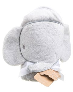 Playgro Home Hooded Towel Elephant Grey