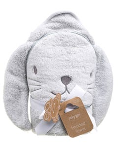 Playgro Home Hooded Towel Bunny Grey