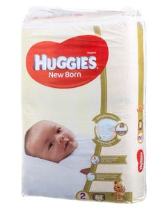 Huggies Size (2) Small 4-6 kg Jumbo Pack 64 Diapers