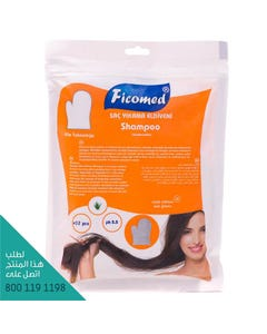 Ficomed Wet Gloves With Shampoo For Hair 12 Pcs