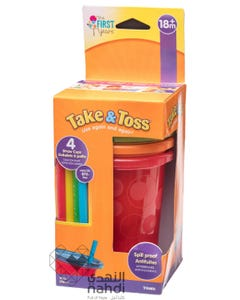 Take and Toss Straw Cups 10 oz 4 pcs