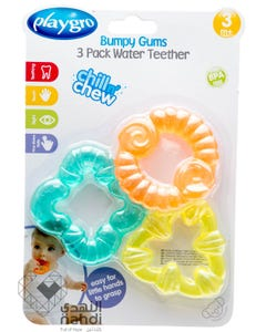 Playgro 3 Bumpy Gums Water Teethers