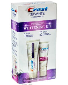 Crest Toothpaste 3D White Brilliance 75 ml + Whitening Accelerator 75 ml