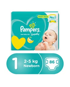 Pampers Size (1) Jumbo Pack 86 Diapers