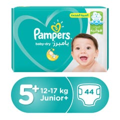 Pampers Size (5+) Junior 13-20/12-17 Kg Jumbo Pack 44 Diapers