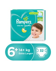 Pampers Size (6+) +16/+14 Kg Jumbo Pack 32 Diapers