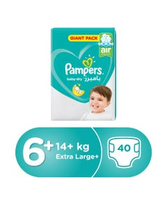 Pampers Size (6+) +16/+14 Kg Mega Pack 40 Diapers
