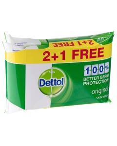 Dettol Wipes Original Promo Pack 2+1 40 pcs