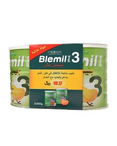 Blemil Plus Baby Milk (3) 800 gm x 2 (Promo-pack)