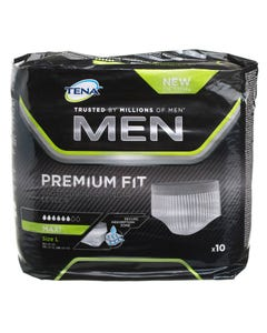 Tena Men Protective Underwear Premium Large Level 4 10 Pcs