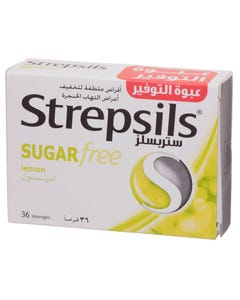 Strepsils Lozenges Lemon Sugar Free 36 pcs