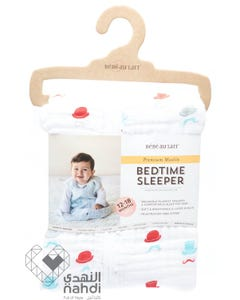 Babe Au Lait Muslin Bedtime Sleepers (12-18 months)- Bowler