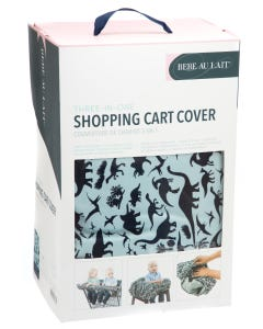 Babe Au Lait Shopping Cart Cover - Dinomite