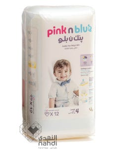 Pink n Blue Size (4) Large 7-16 Kg - 12 Diapers